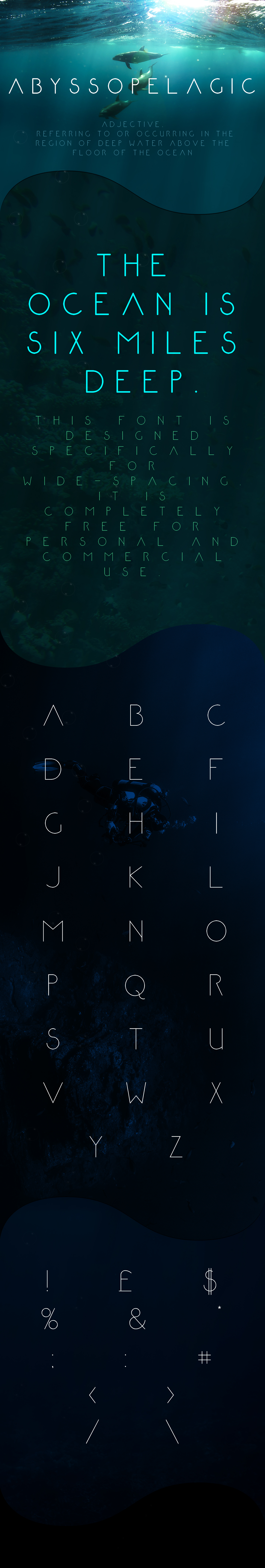 Abyssopelagic Font Download