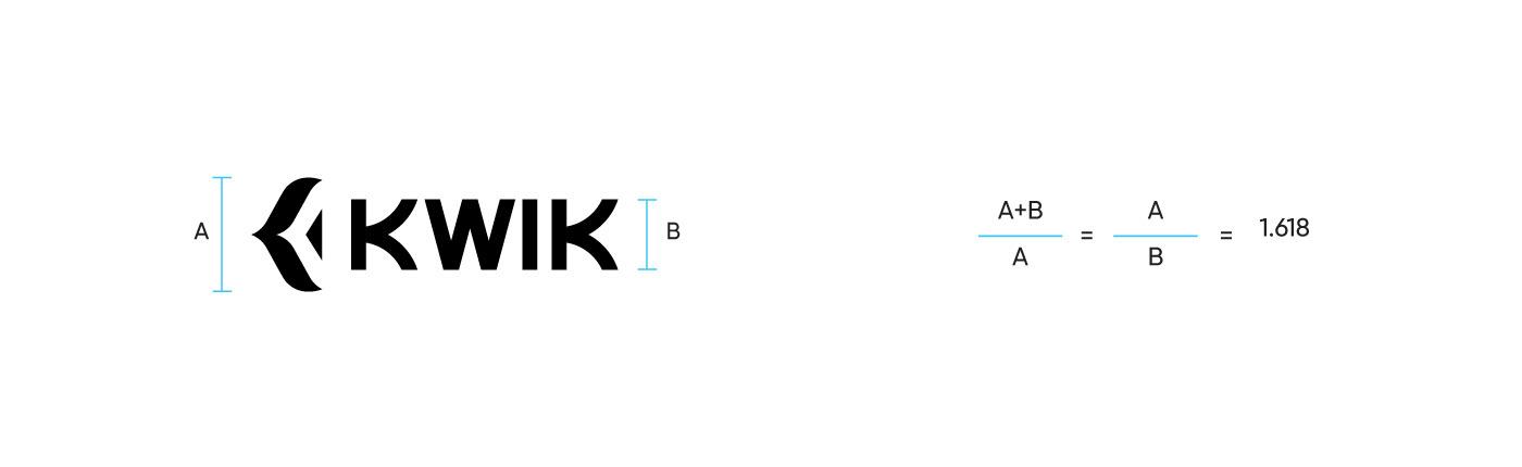 kwik  logo brand identity delivery