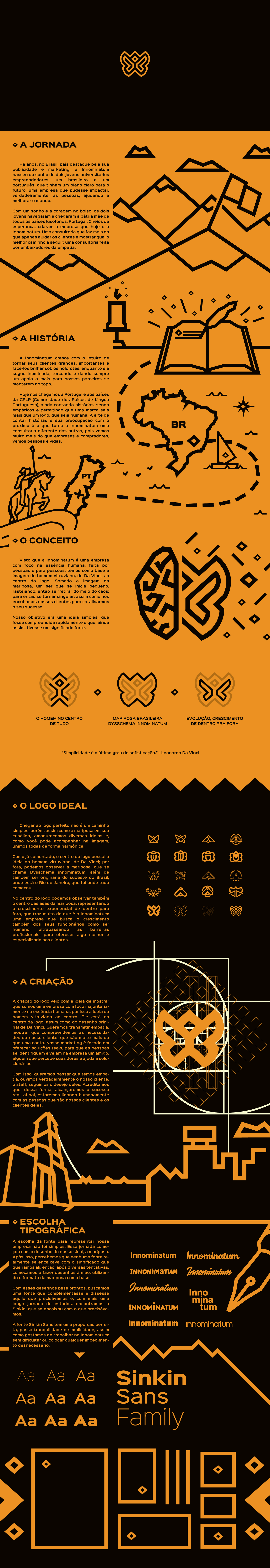 brand Consulting innominatum yellow black ILLUSTRATION  agency design