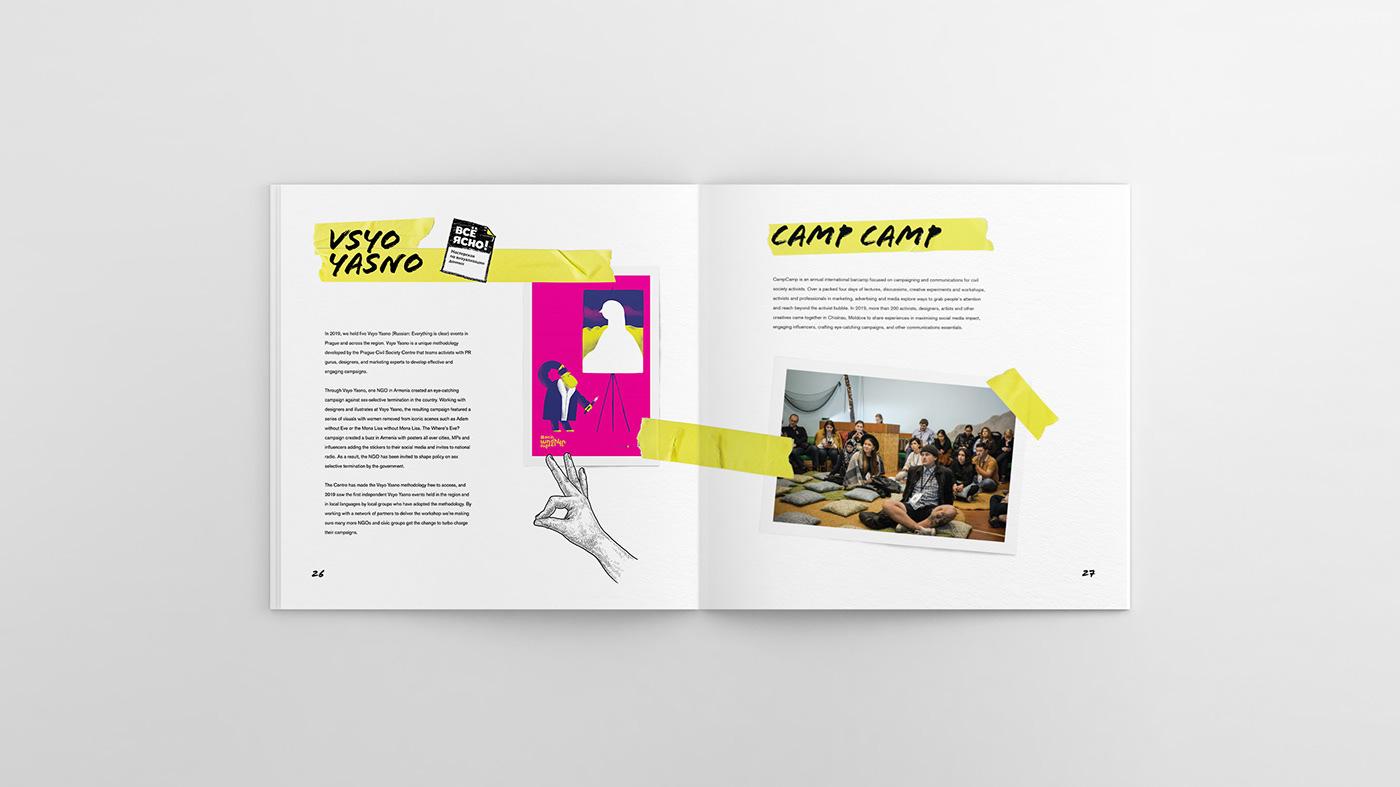 ANNUAL AnnualReport book graphic design  ILLUSTRATION  public interest visual identity