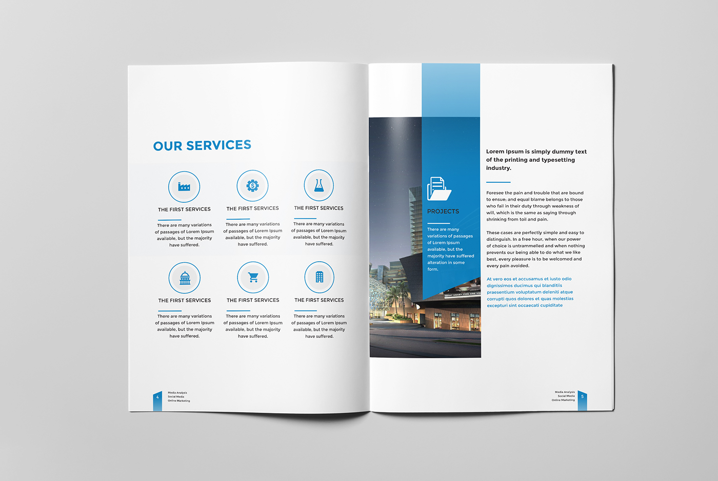 corporate business brochure 16 pages a4 on behance