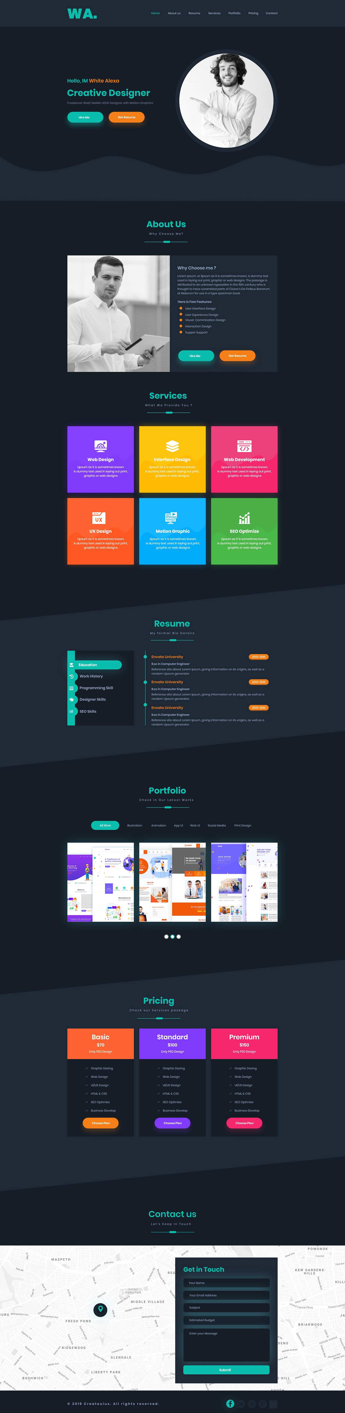 CV CV Template Free download free freebies One Page PS Resume xD