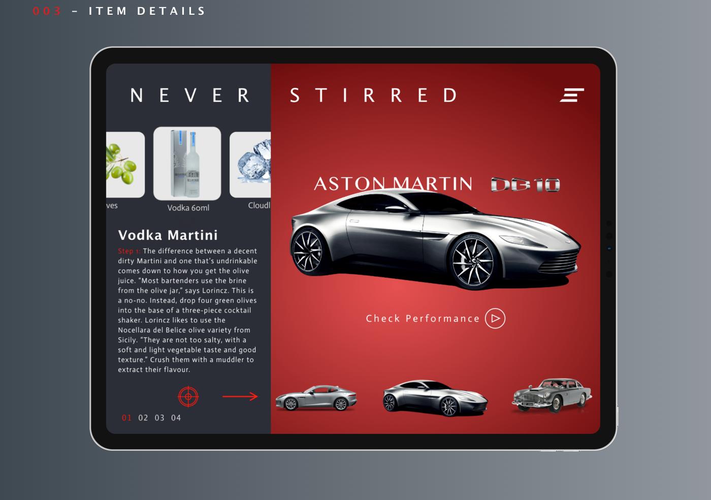 UI ux Movies books james Bond interaction car watch