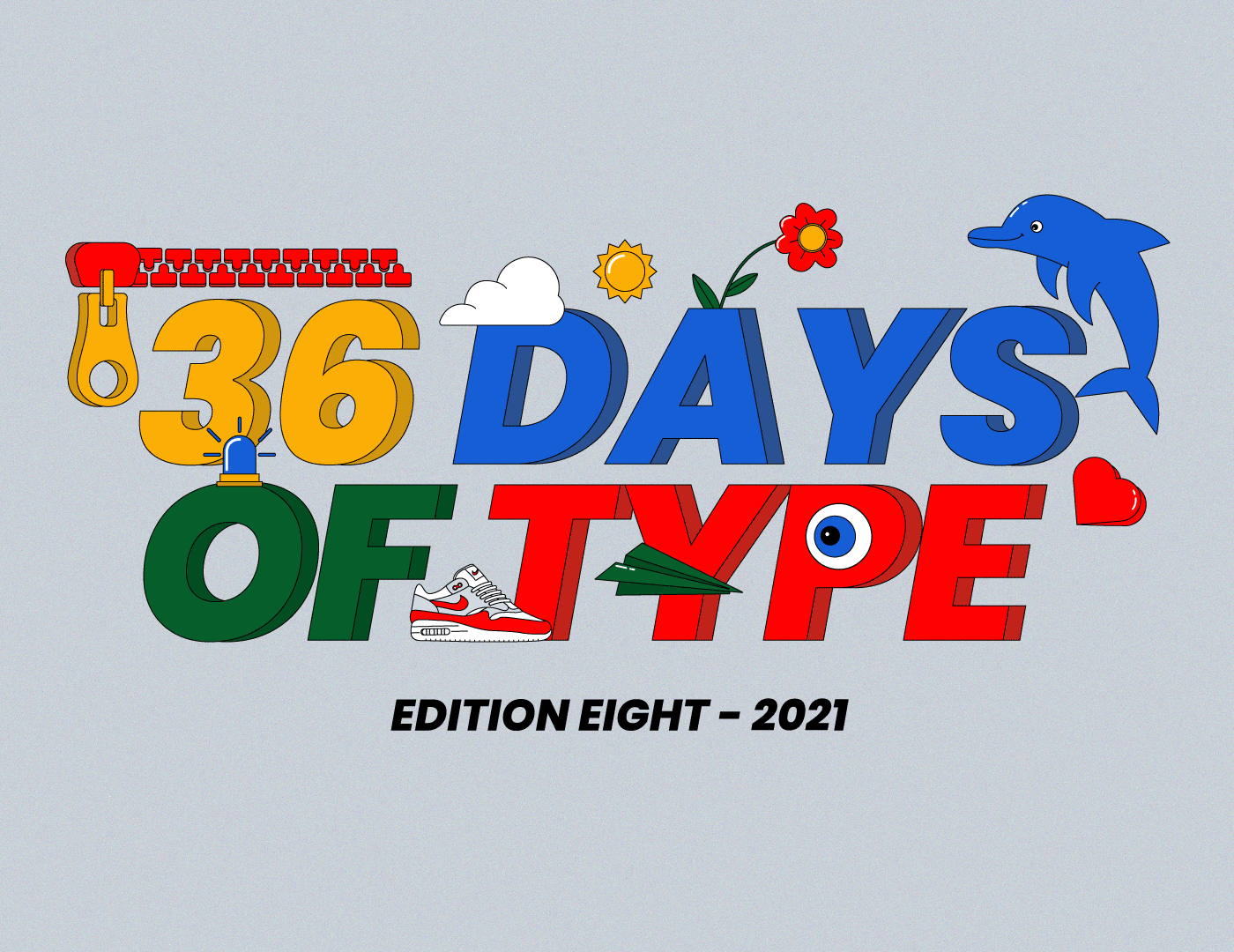 36daysoftype cartoon challenge comic design Drawing  graphic design  ILLUSTRATION  vector type