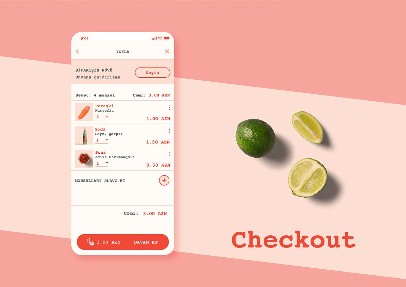 app design pirojki pirashki bake bakery fastfood Food  Street Food UI ux