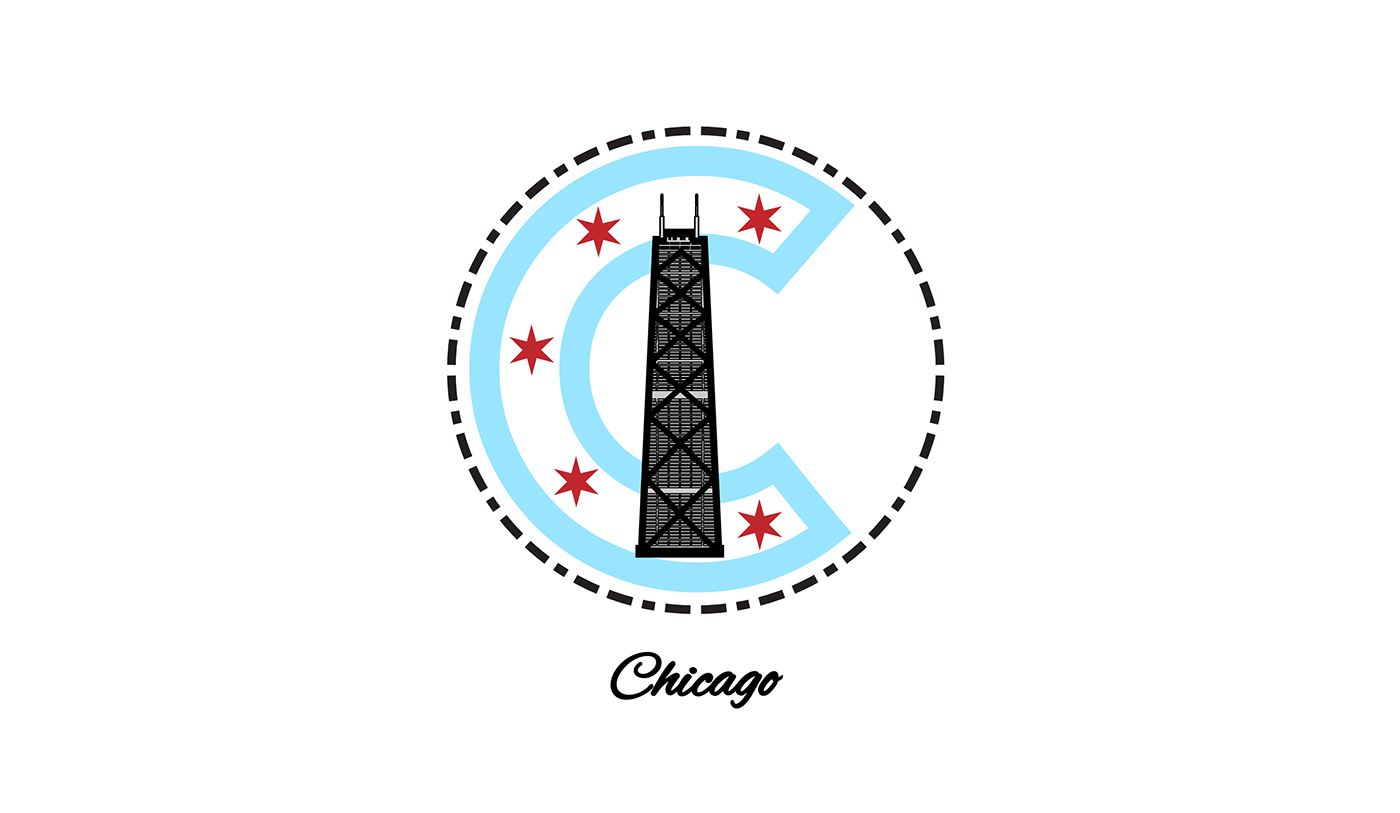 chicago badge logo branding  local cubs chicago flag windy city
