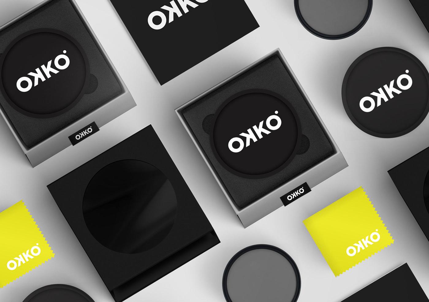 identity Packaging camera lens filter Uvfilter yellow blackfoil logomark logo