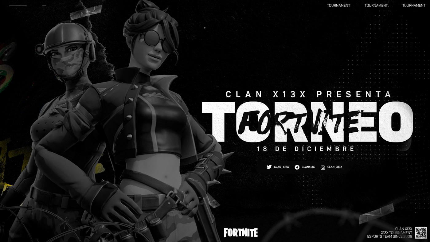 Clanes De Fortnite X13x Clan Esports Project On Behance