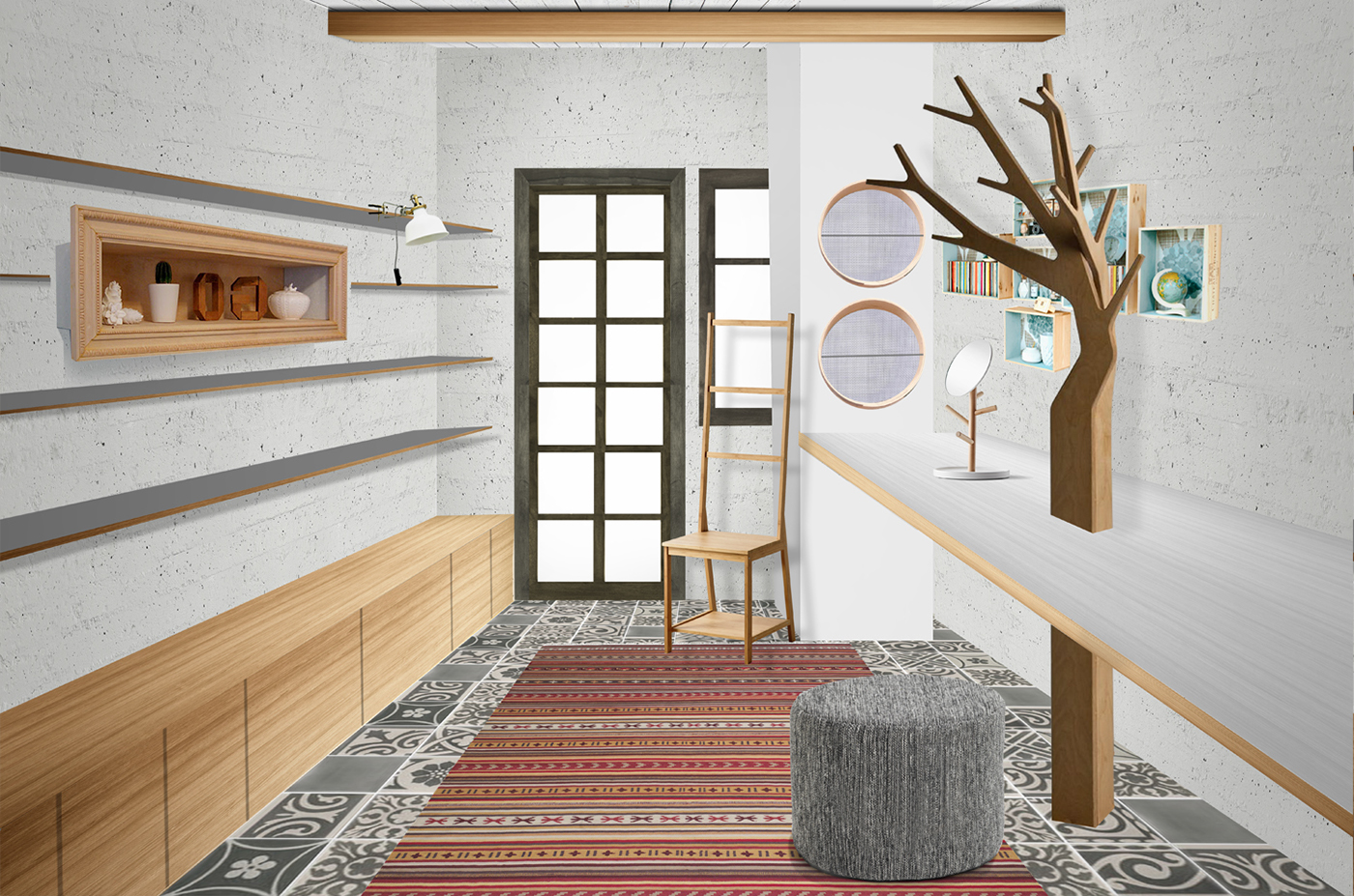 concept small space Logo Design visual identity interior design  Signage Greece Trikala Korinthias traditional & modern