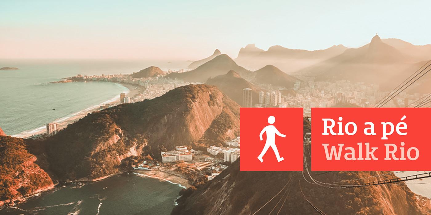 rio Rio de Janeiro Rio a pé wayfinding Sinalização placas Turismo comunicação de rua