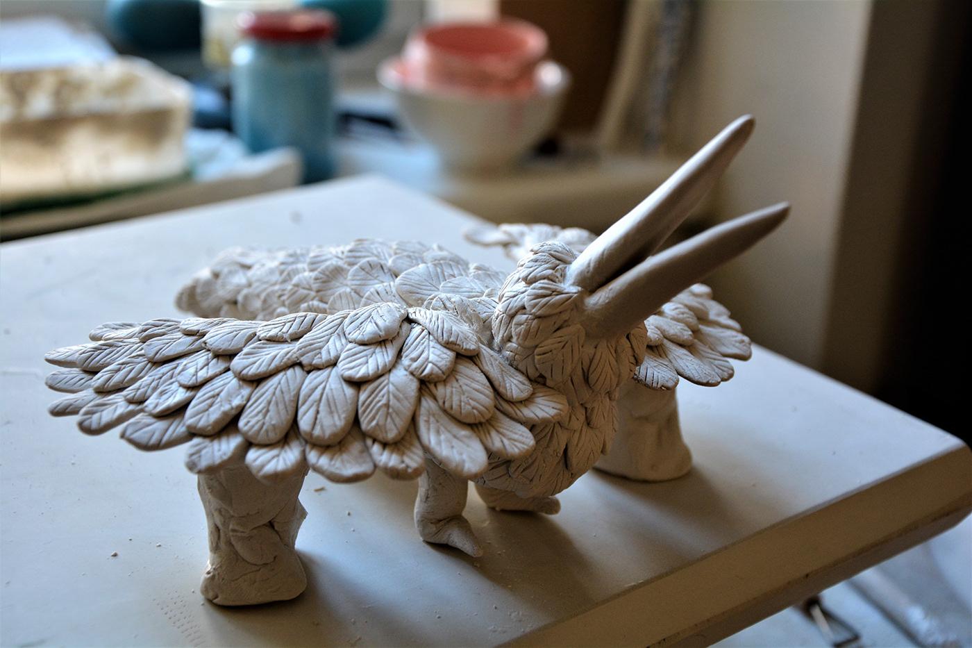 birds porcelain sculpture art ceramic olivia weiss Platinum