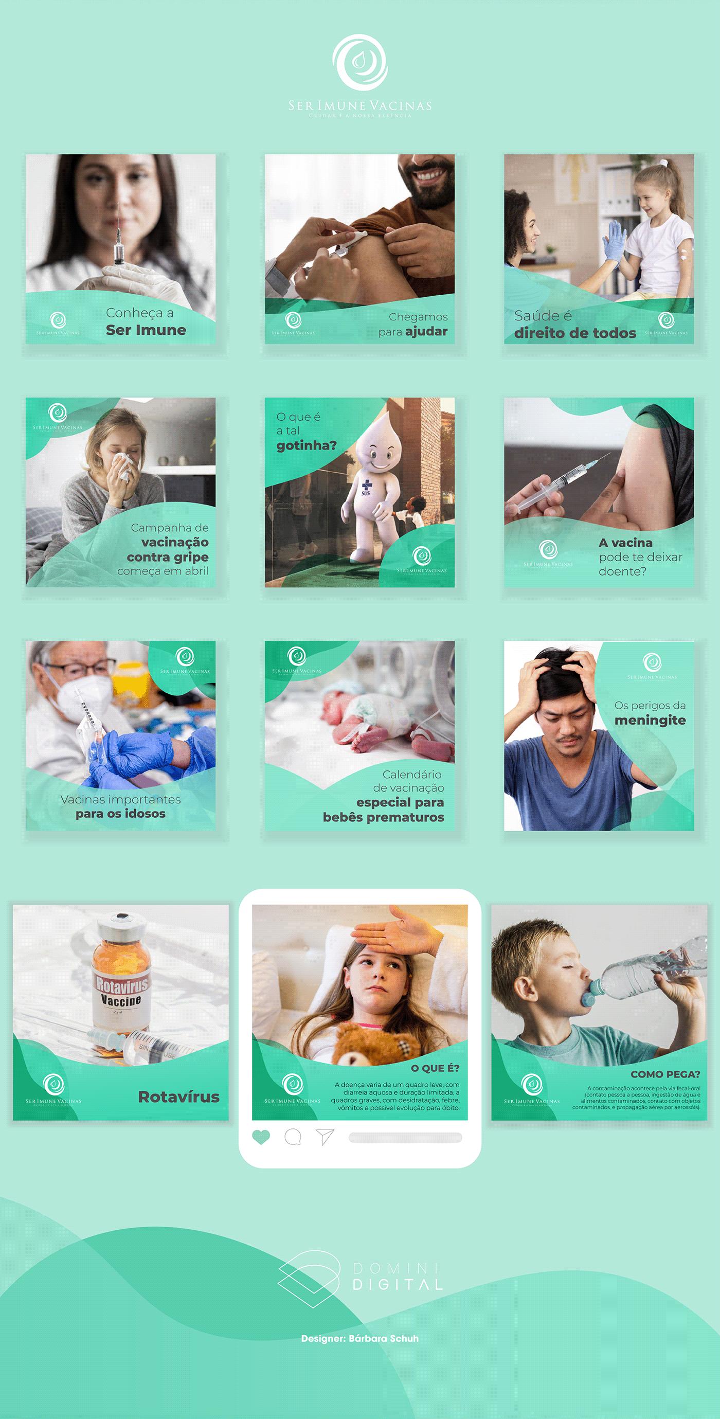 Imunidade instagram marketing digital Redes Sociais saúde ser imune social media vacina vacinação