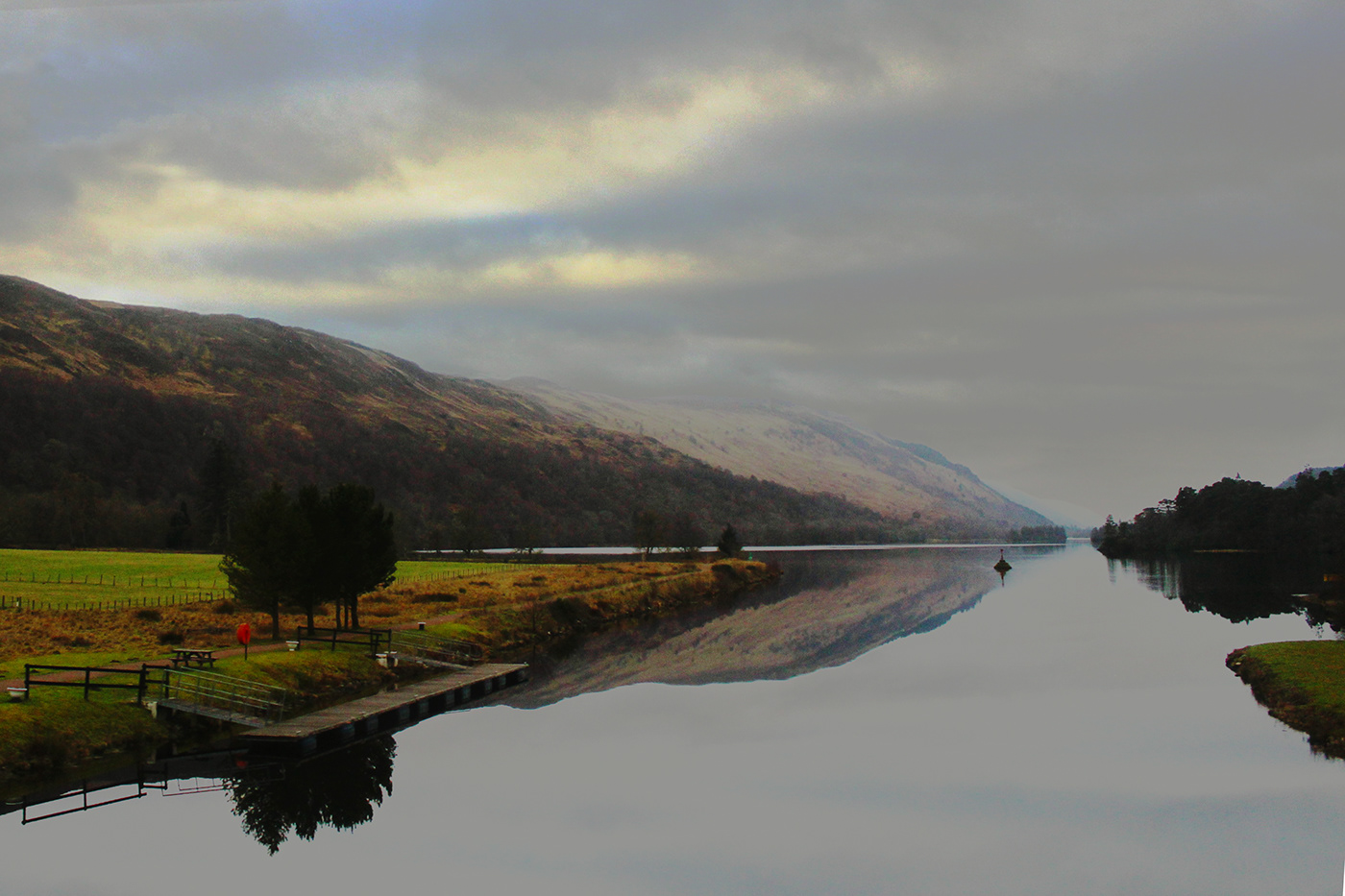Landscape scotland UK mountain photo Nature Loch color Photography  water