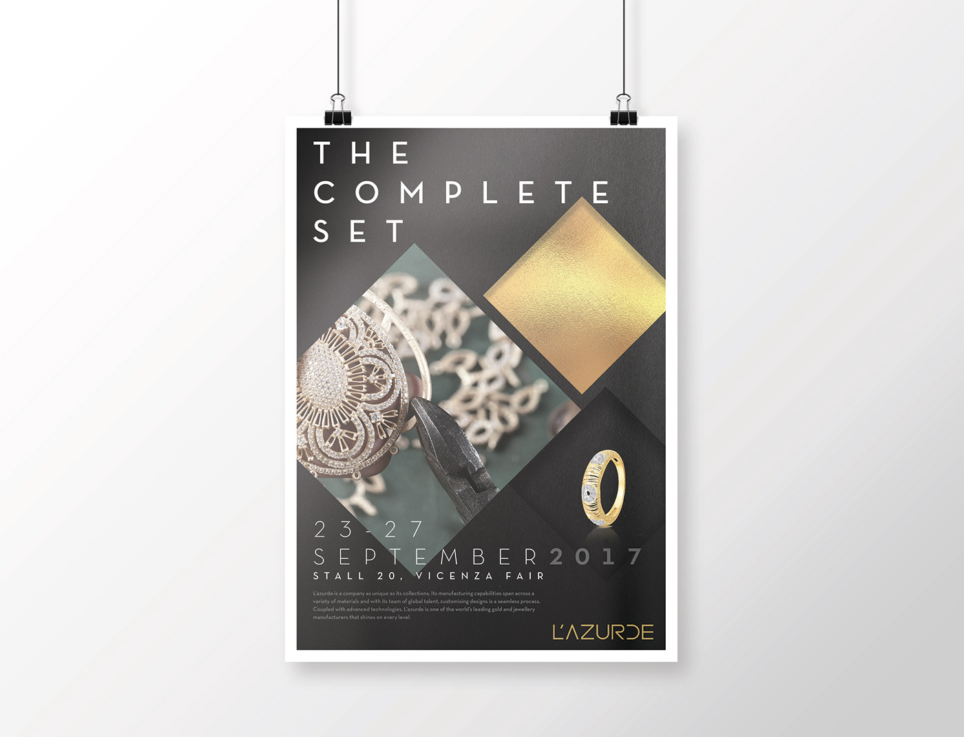 Exhibition Stall Posters : L azurde vicenzaoro exhibition poster on behance