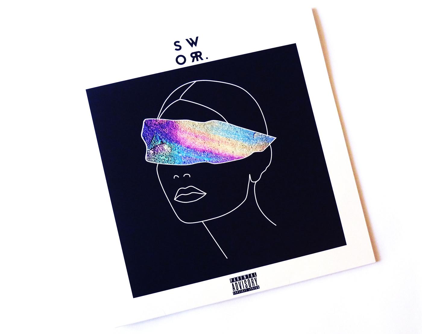 music vinyl Album Album design record design sworr. CD design ILLUSTRATION