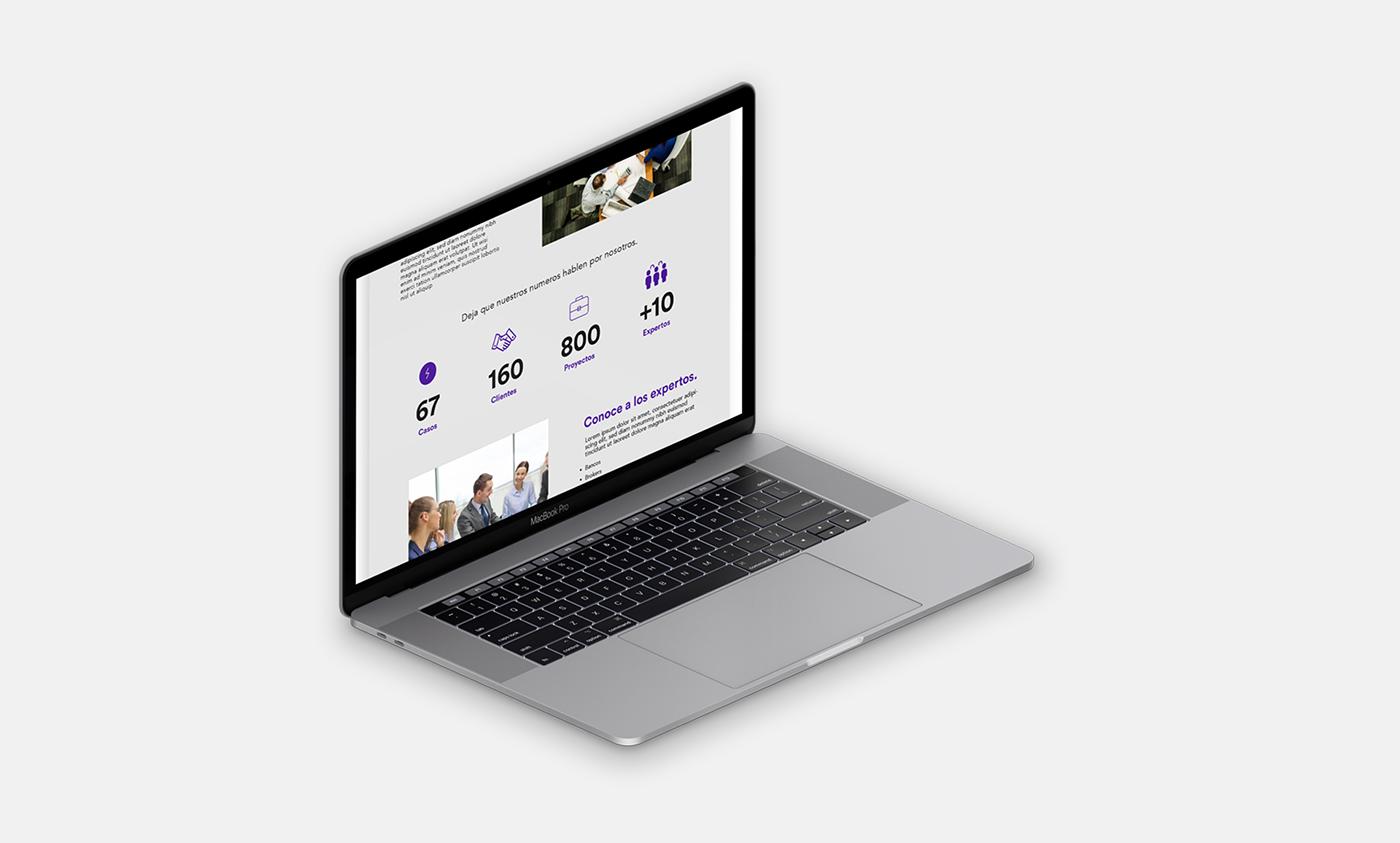 finance branding  mexico UI/UX design Web financing modern 2018 trends