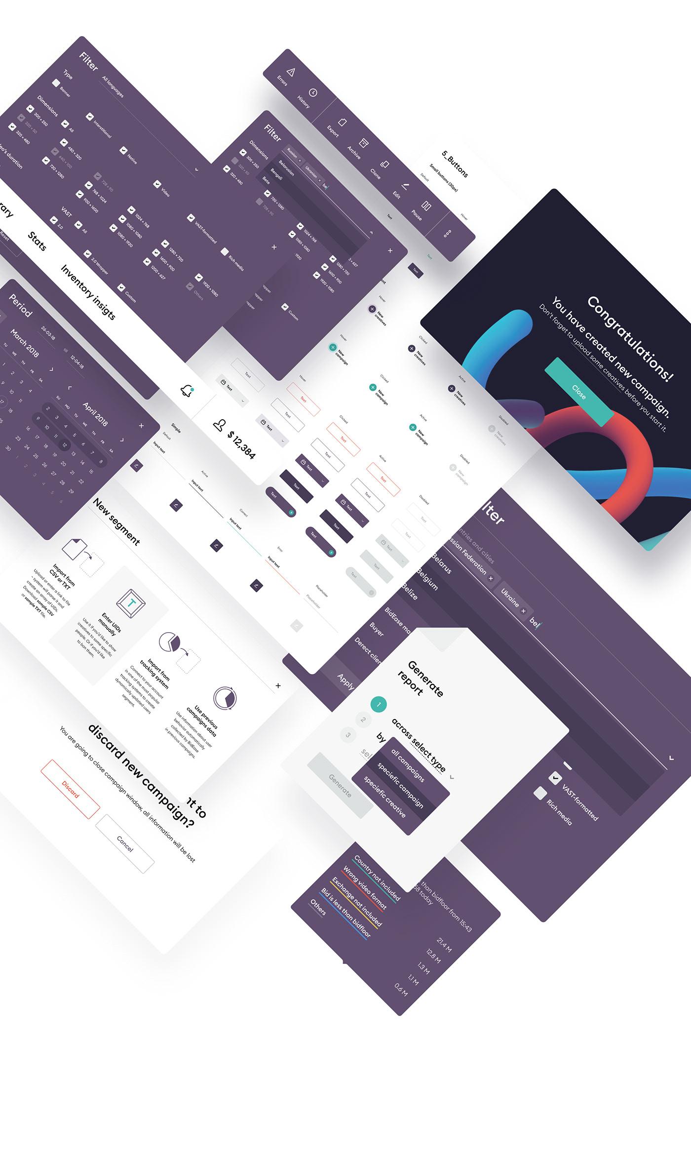 Web Web Design  ux UI flat ui-kit color