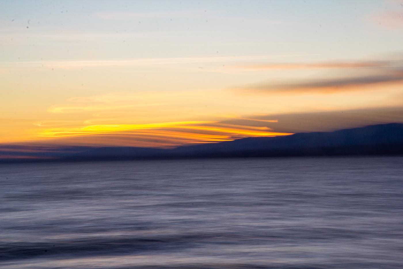 Sunset at the Lake Léman, Switzerland