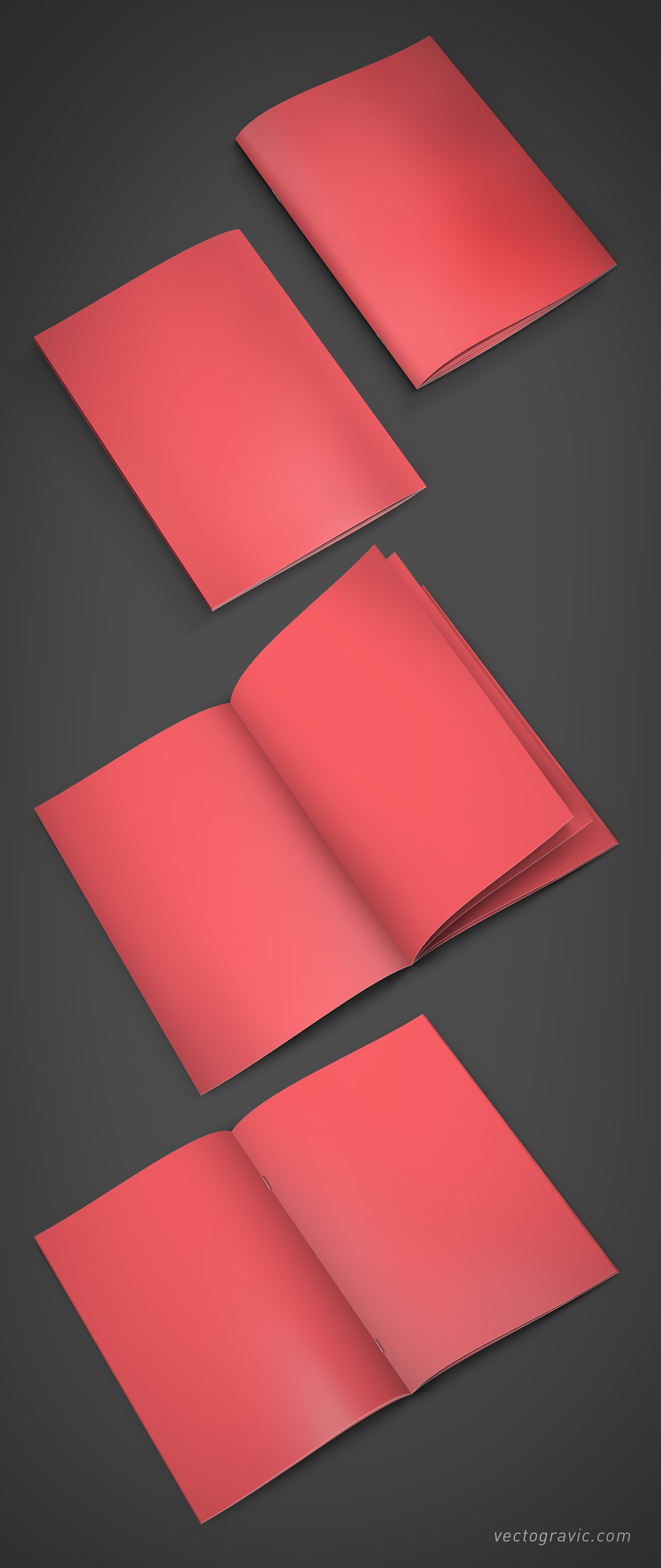 a4,Booklet,brochure,corporate,saddle stitch,Mockup,psd,psb,free,download,vectogravic,Catalogue
