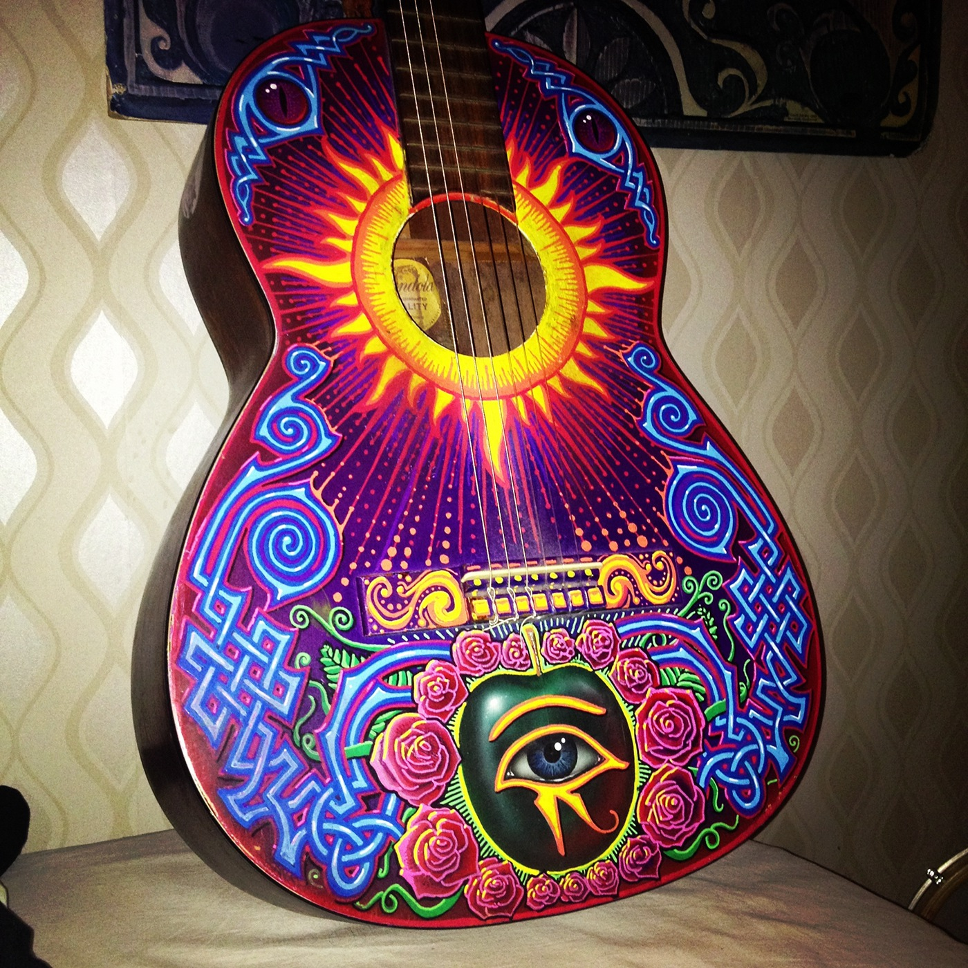 Custom Painted Guitar On Behance