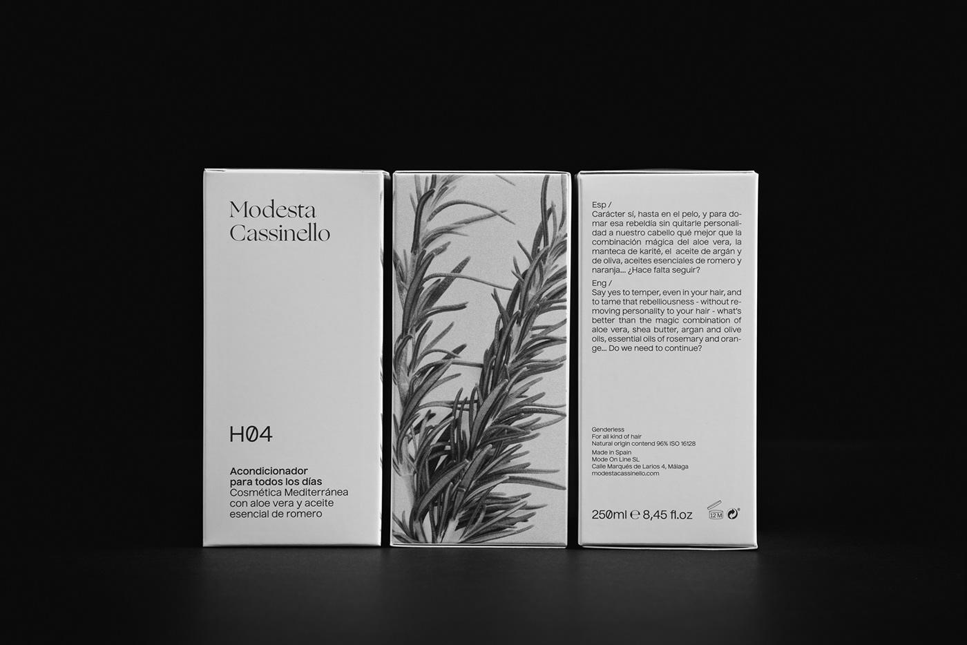 Packaging identity Modesta Cassinello cosmetics branding  Plácida Javier Zamora mediterranean granada