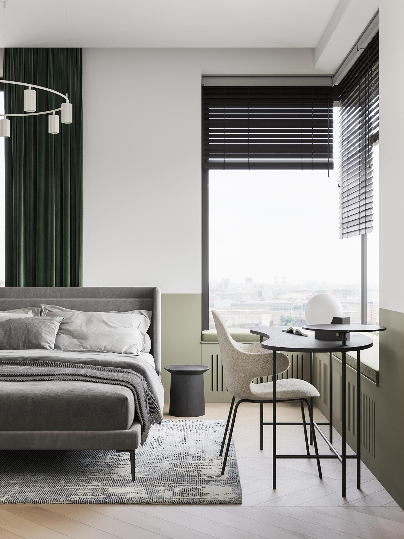 3ds max bedroom corona designinterior designinteriors Interior interior design  livingroom Scandinavian design visualization