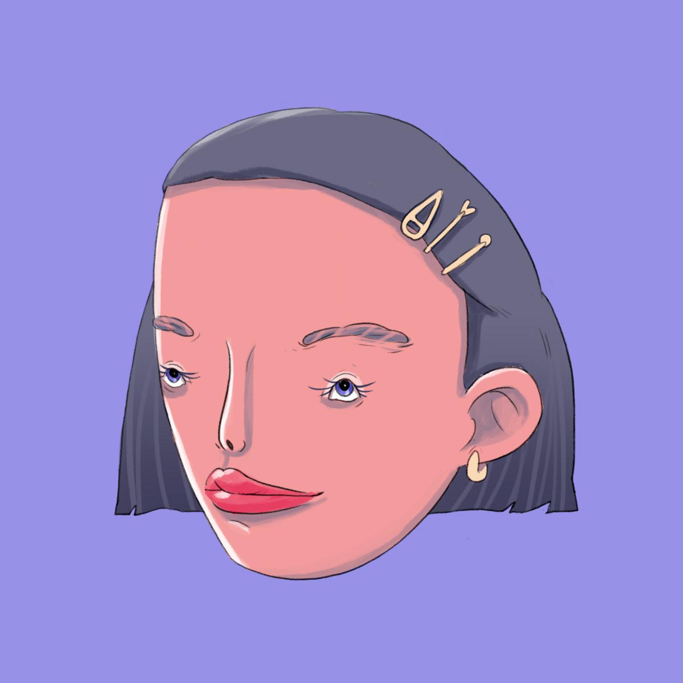 Image may contain: cartoon, sketch and human face
