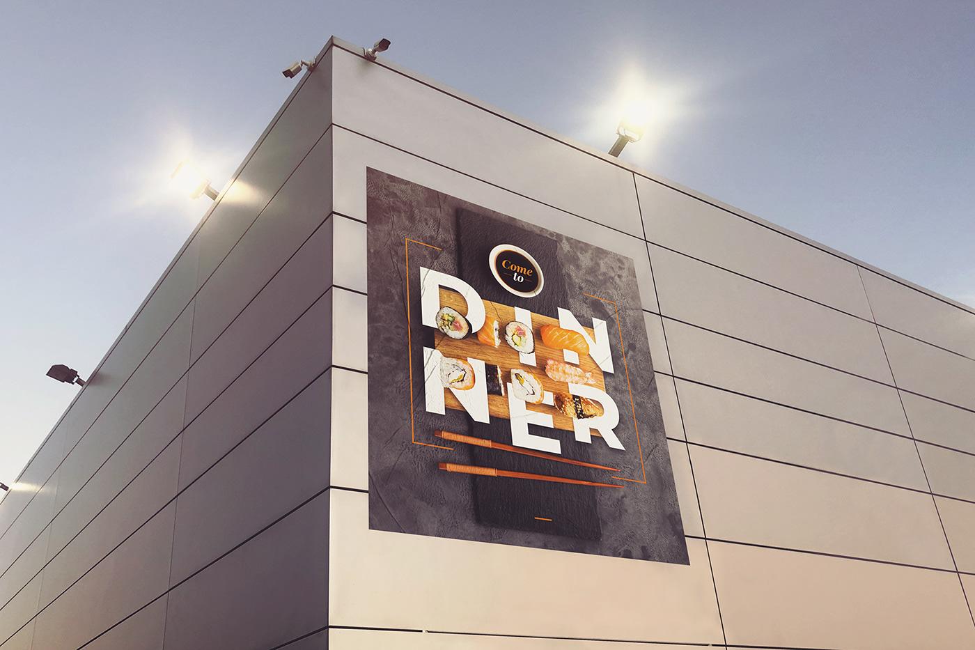 big city mock-up Mockup photo poster psd signboard Street vertical