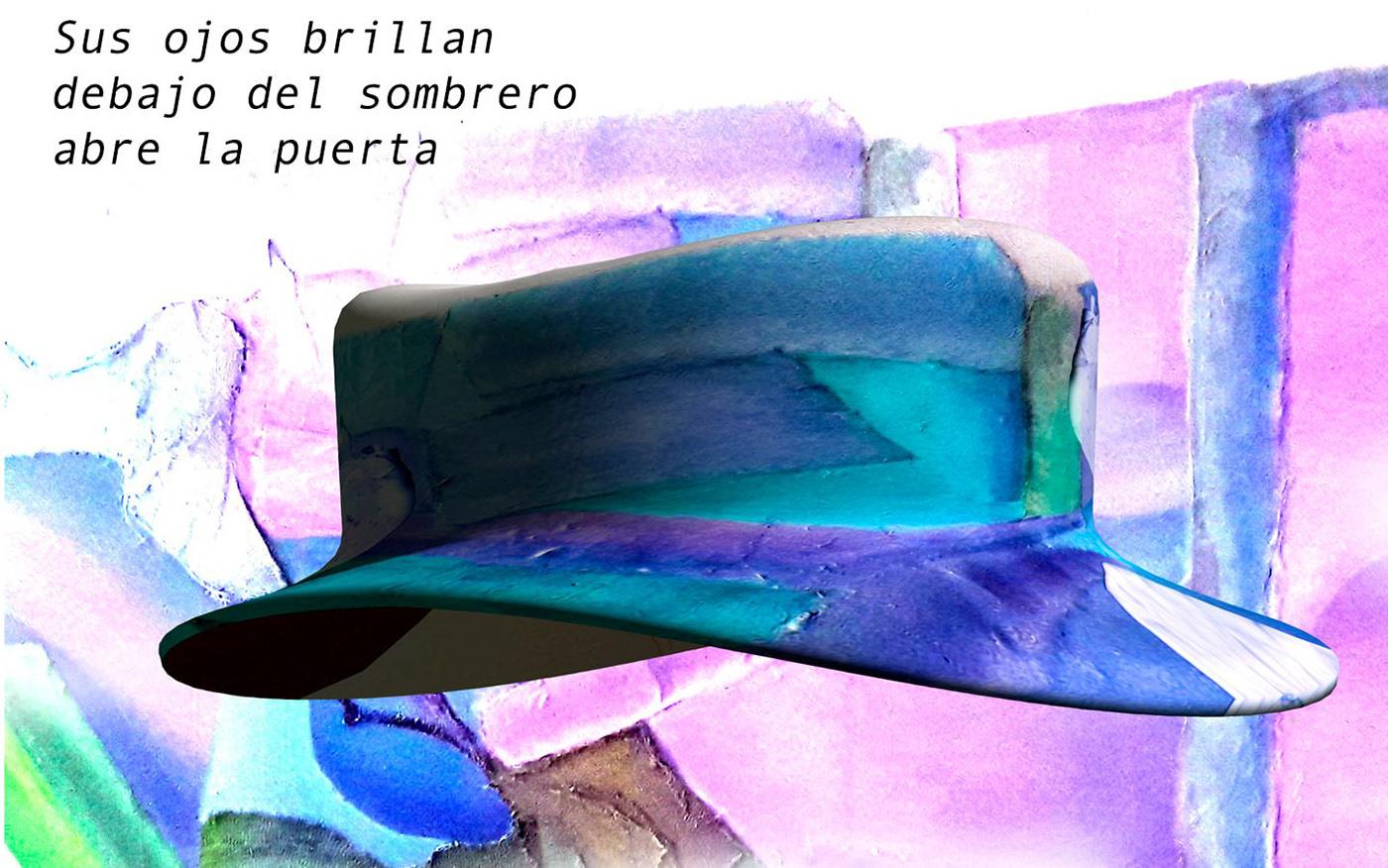 gorro moda Personalidad poesia sombrerero sombrerillo sombrero sombrero de ala ancha sombrero de copa