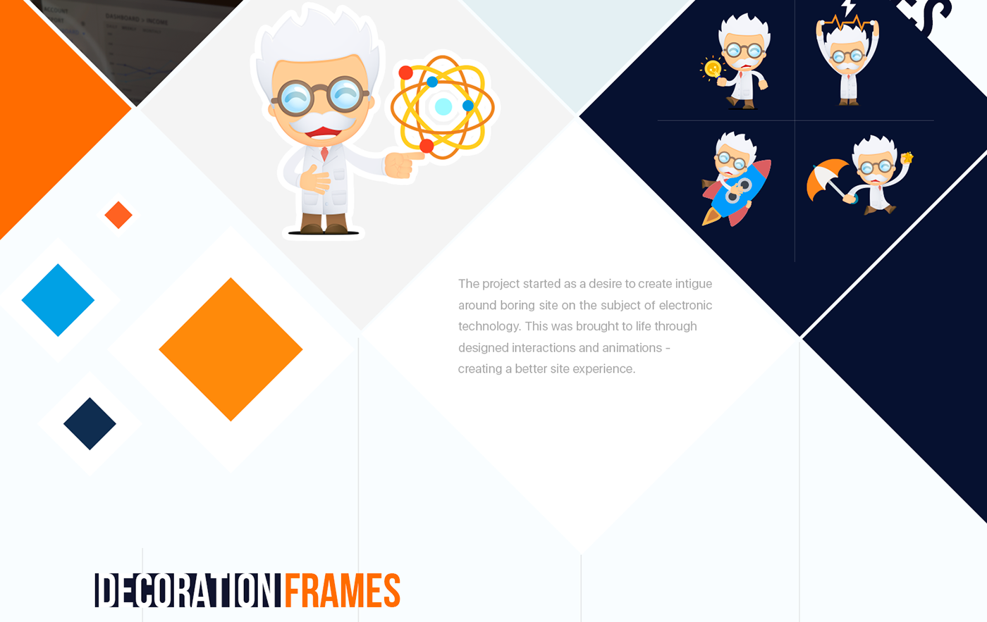 Web UI ux animation  ILLUSTRATION  technologies science redesign interaction orange