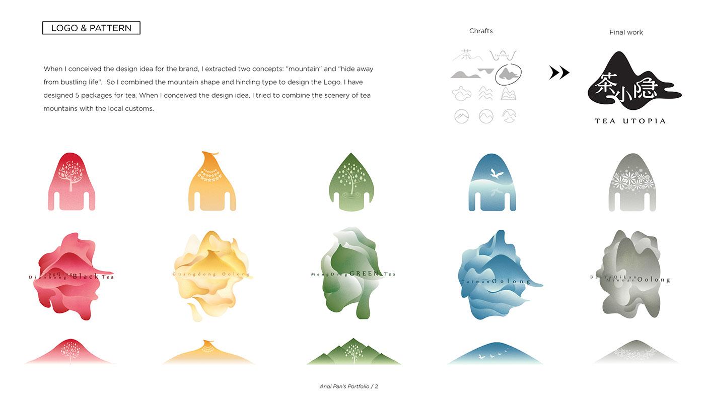 tea utopia Packaging logo tea brand