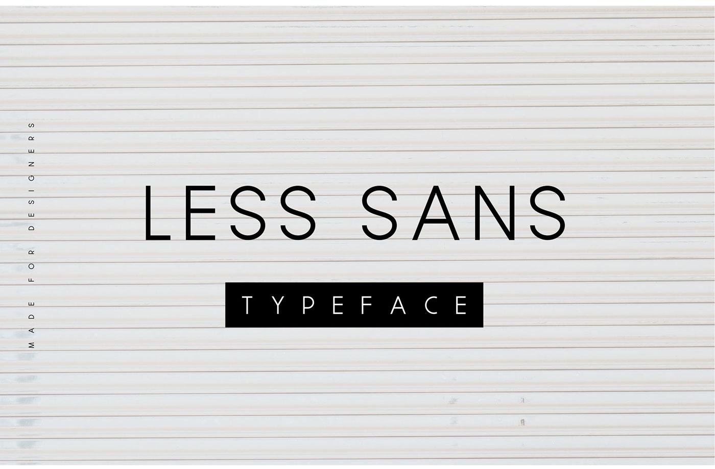 Less Sans Minimal Typeface - Free Download on Behance