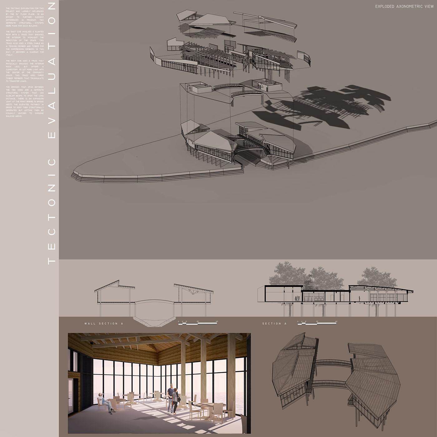 dragon boating boat house Presentation Board design