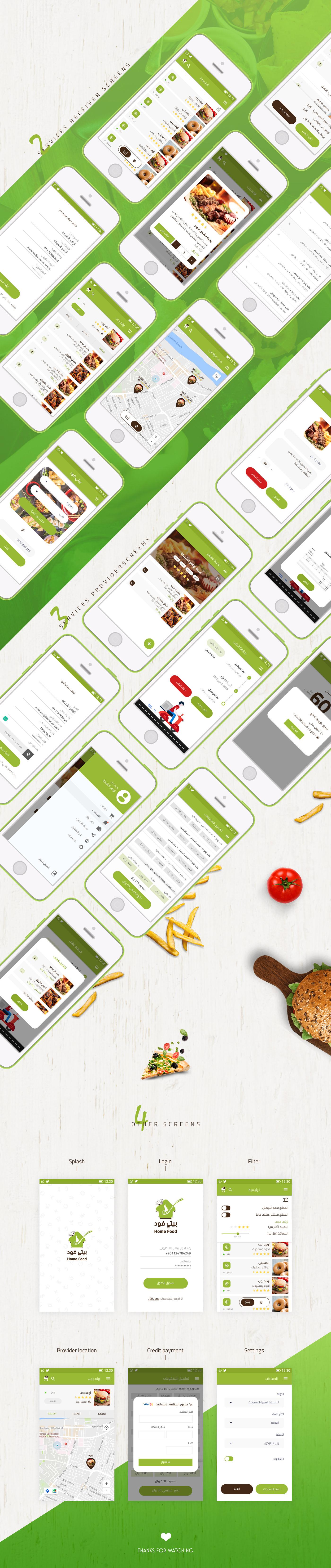 UI ui design Mobile app android programming  design food app Food  ui ux creative