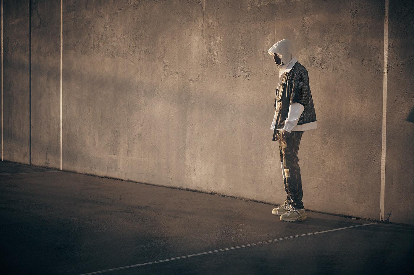 Image may contain: skating, wall and man