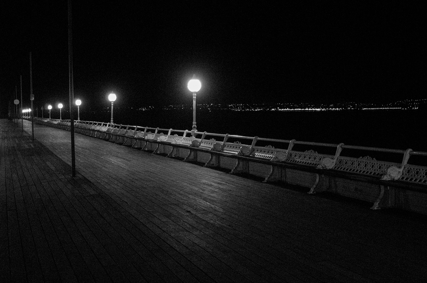 A cold and lonely pier.