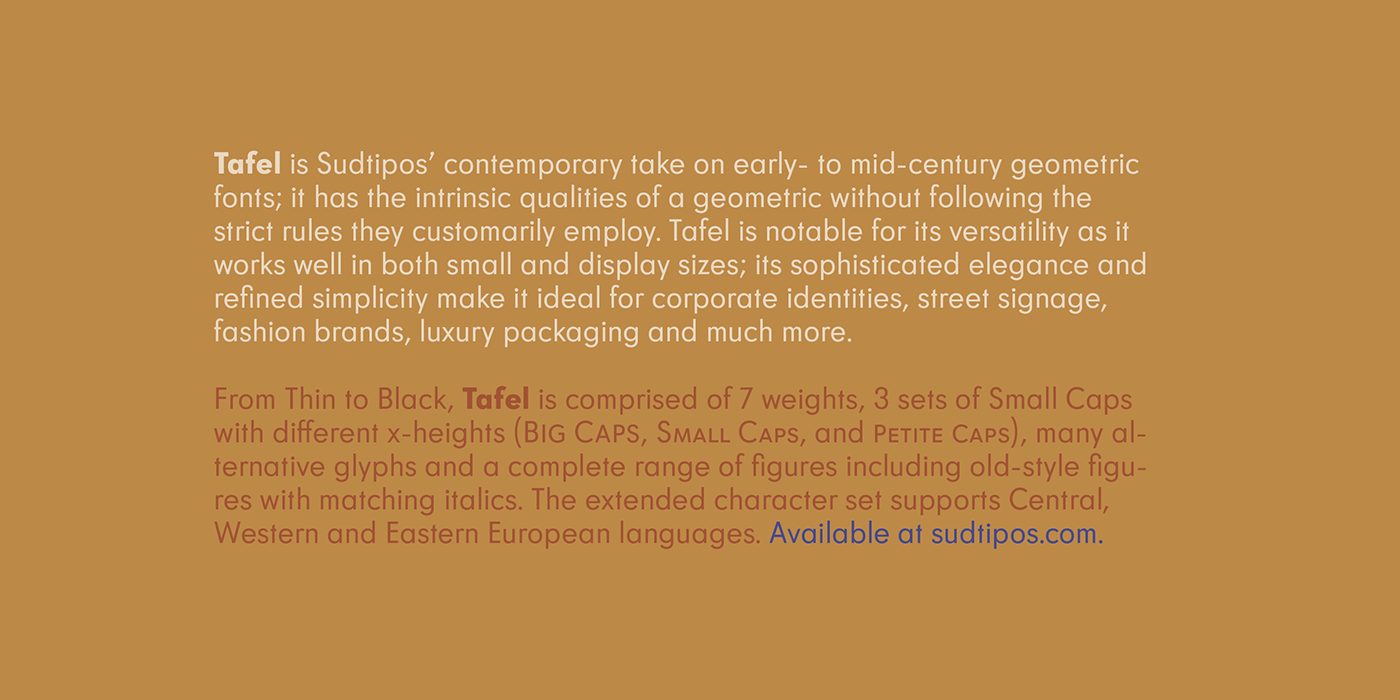 typography   font typeface design modern Type Specimen sudtipos h3l geometric font modernism
