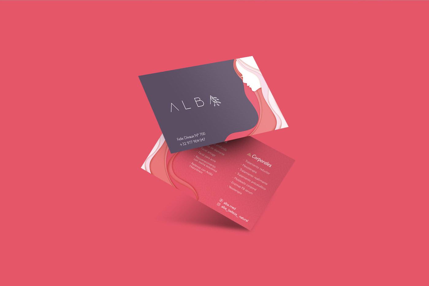 brand design for alba made by tony hall