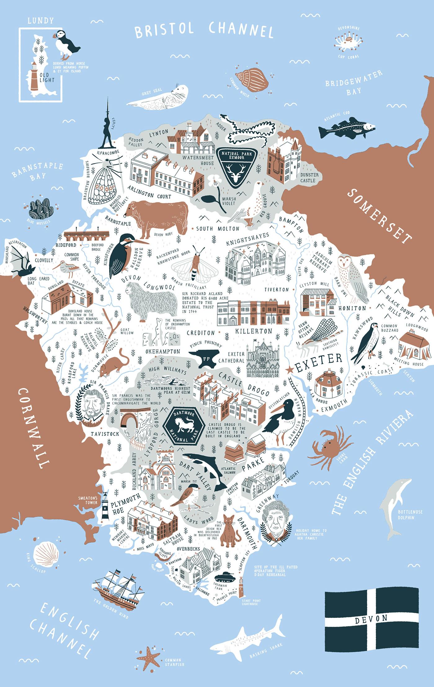 Devon Map on Behance