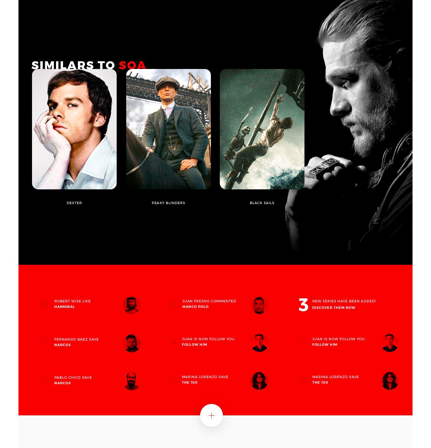 Netflix app Movies series concept Interface devices tv ux UI
