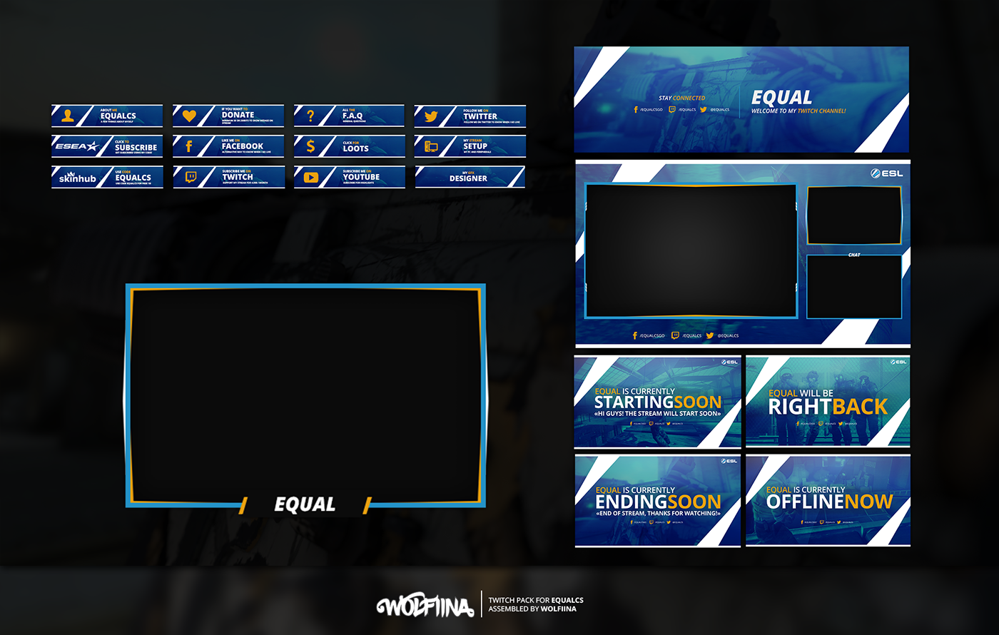 Twitch Overlay - Equal on Behance