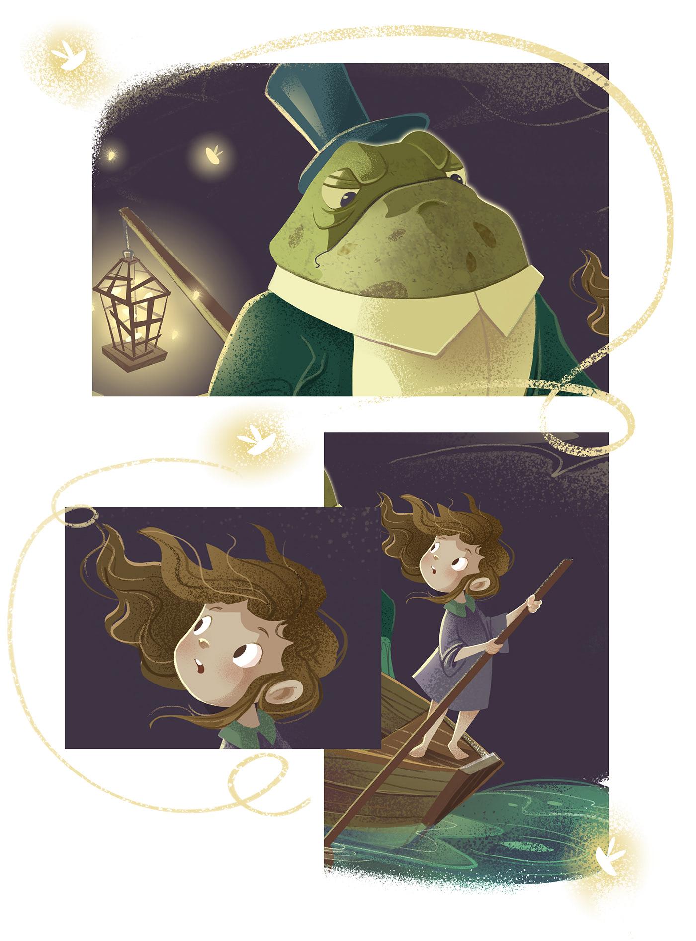 Adobe Photoshop Character design  children's story Digital Art  digital paint fantasy frog ILLUSTRATION  Ispiration Magic