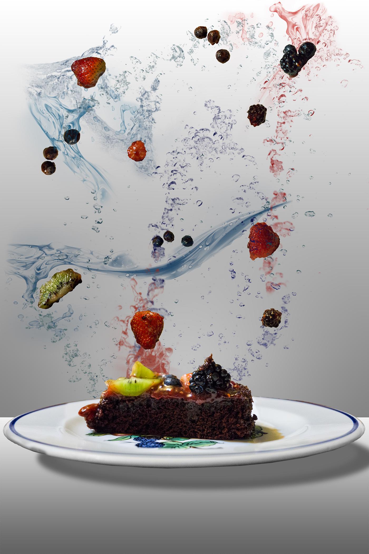 Flying Food Cake On Behance