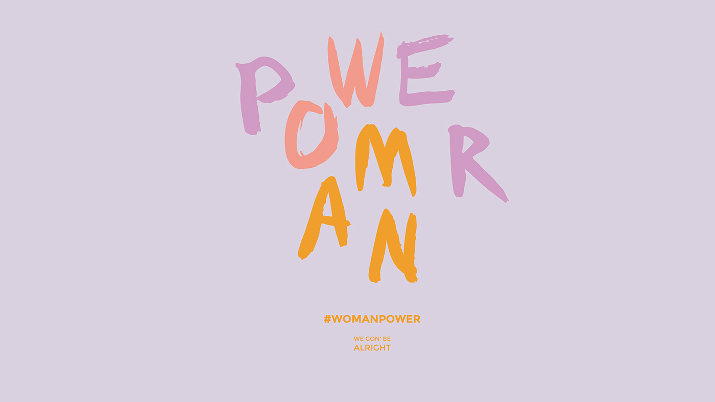 Woman Power feminism Exhibition  art Girl Power afro feminist Logotype POC people of color immigrants