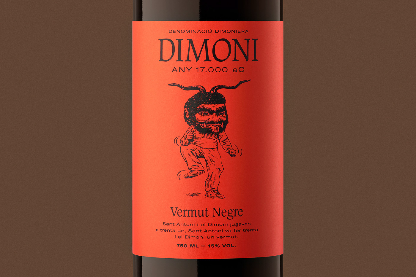 Pack vermut mallorca barcelona bottle red devil stamp totebag