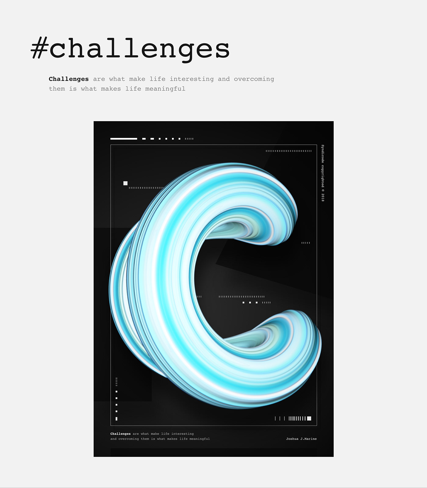 Poster Design graphic design  lettering cinema4d 3D Digital Art  poster creative visual art art