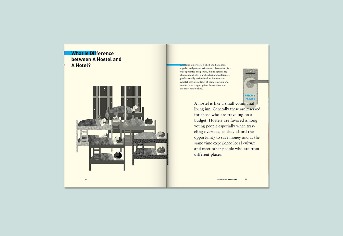 print Booklet happy hostel