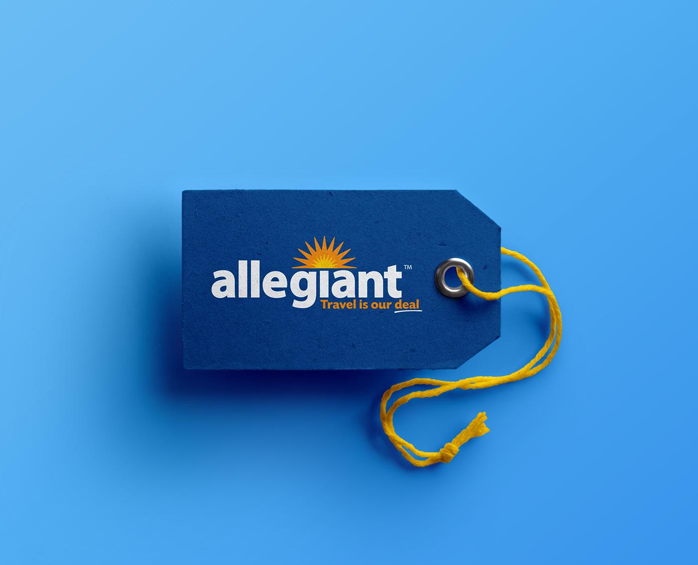 Allegiant Airlines airline airplane Travel flight design logo branding  Identity Design Rebrand