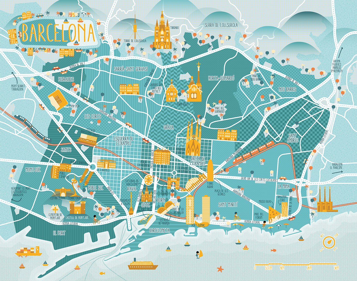 A Map of Barcelona on Behance