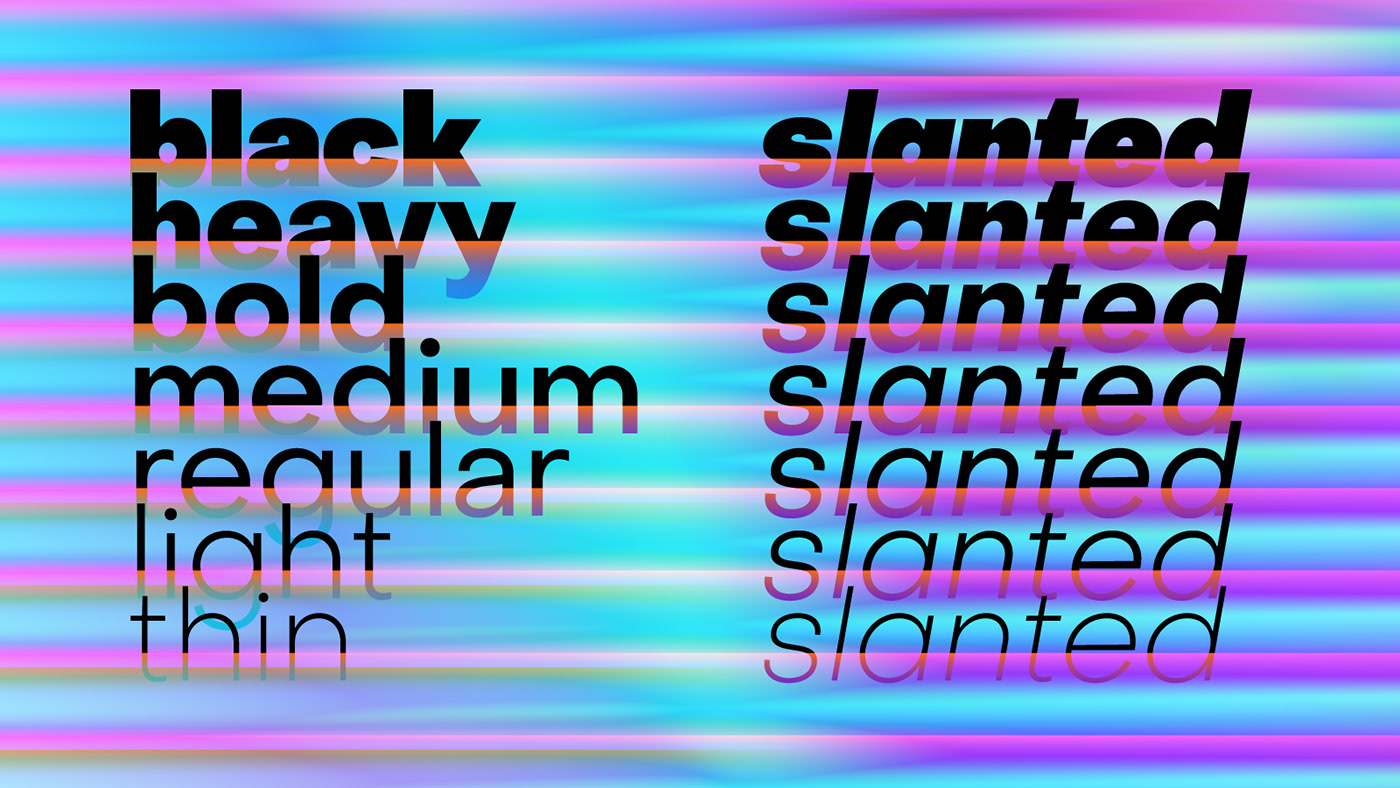 Free font family sans serif typeface variable grotesque type logo design fonts brand identity typography kinetic motion designer web text display bold light grotesk trends 2019 2020 gradients colors colorful